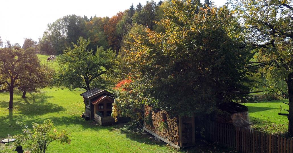 "Blick vom Balkon FeWo ""Am Wald"""