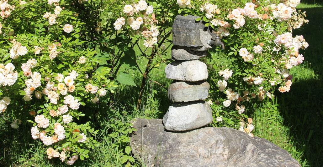 Lädt zur Rast ein – der Radlerbrunnen