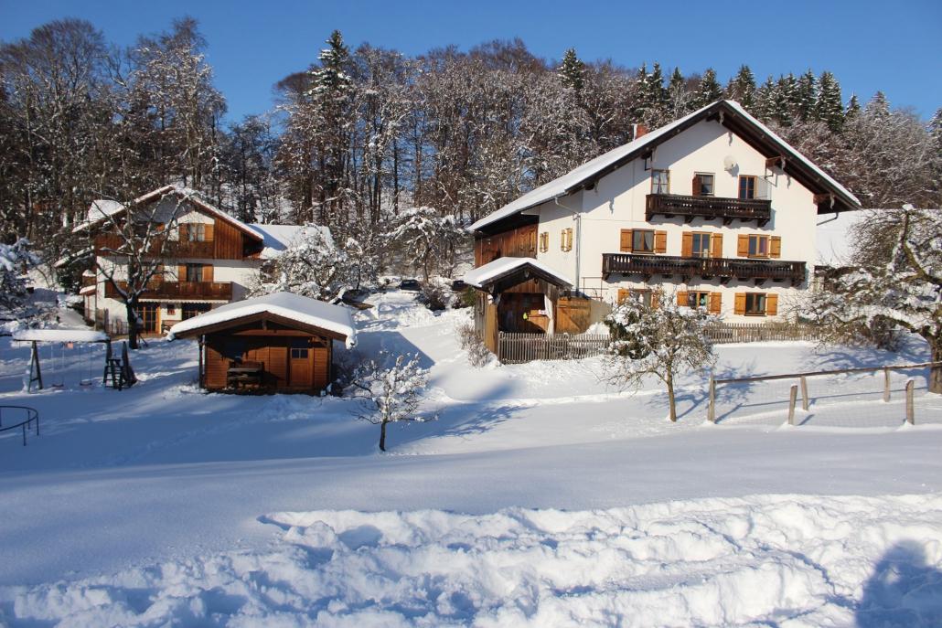 Winteransicht vom Waldhauser Hof